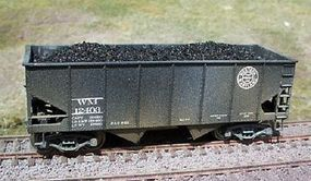 Motrak Coal Loads for Accurail 50 Ton 2-Bay Hopper (2-Pack) HO Scale Model Train Freight Car #81100