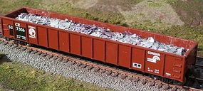 Motrak Scrap Aluminum Load for Athearn/MDC 52 Mill Gondola HO Scale Model Train Freight Car #81210