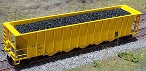 Motrak Coal Loads for Athearn/MDC 5-Bay Rapid Hopper (2-Pack) HO Scale Model Train Freight Car #81226