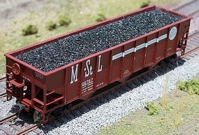 Motrak Coal Loads for Atlas 3-Bay Hopper (2-Pack) HO Scale Model Train Freight Car Load #81302