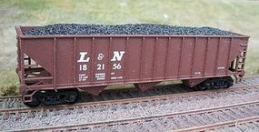 Motrak Coal Loads for Bowser/Stewart 12 Panel Hopper (2) HO Scale Model Train Freight Car Load #81408