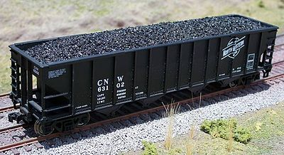 Motrak Models Coal Loads for Walthers 100 Ton Quad Hopper (2) -- HO Scale Model Train Freight Car Load -- #81702