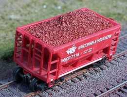 Motrak Resin Ore Load for Walthers Minnesota Ore Car (2) HO Scale Model Train Freight Car Load #81709