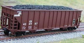 Motrak Coal Loads for Con-Cor Greenville 100Ton 3-Bay HO Scale Model Train Freight Car Load #81903