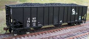 Motrak Coal Loads for Bachmann 100 Ton 3-Bay Hopper (2) HO Scale Model Train Freight Car Load #81904