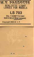 M-V-Products .046 Blue (4) for N 7 Diesel/Electric Headlights Miscellaneous Train Part #703