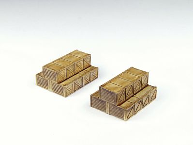 Classic Metal Works Stacked Wooden Crates Truck Load -- HO Scale Model Railroad Roadway Accessory -- #20211