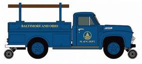 Classic-Metal-Works 1954 Ford F350 Hy-Rail Utility Truck Baltimore & Ohio HO Scale Model Railroad Vehicle #30237