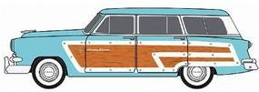 Classic-Metal-Works 1953 Ford Country Squire Wagon - Assembled - Mini Metals(R) Glacier Blue - HO-Scale