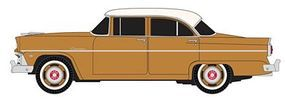 Classic-Metal-Works 1955 Ford 4-Door Sedan Customline Buckskin Brown HO Scale Model Railroad Vehicle #30382