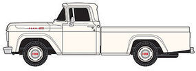 Classic-Metal-Works 1960 Ford Pickup Truck - Assembled - Corinthian White HO Scale Model Railroad Vehicle #30409