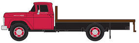Classic-Metal-Works 1960 Ford Flatbed Truck Assembled Monte Carlo Red Cab HO Scale Model Railroad Vehicle #30411