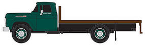 Classic-Metal-Works 1960 Ford Flatbed Truck - Assembled - Holly Green Cab HO Scale Model Railroad Vehicle #30412