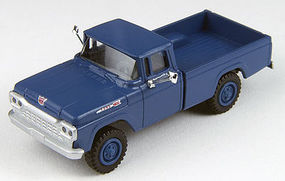 Classic-Metal-Works F-100 4x4 Pickup Blue HO Scale Model Railroad Vehicle #30450