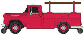 F-100 Utility Truck Red HO Scale Model Railroad Vehicle #30461