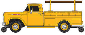Classic-Metal-Works F-100 Utility Truck Yellow HO Scale Model Railroad Vehicle #30463