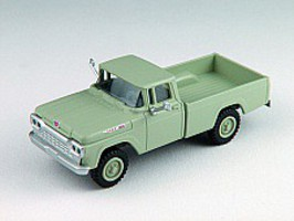Classic-Metal-Works F-100 4x4 Pickup Green HO Scale Model Railroad Vehicle #30475