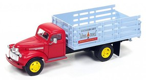 Classic-Metal-Works Stakebed Truck Blue Coal