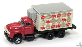 Classic-Metal-Works 1960 Ford Refrigerated Box Truck - Assembled - Mini Metals(R) Schaefer Beer