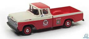 Classic-Metal-Works 1960 Ford F-100 Pickup Truck - Assembled - Mini Metals(R) Texaco Service
