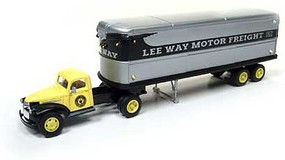Classic-Metal-Works HO 1944-46 Chevy Tractor/Trailer, Lee Way