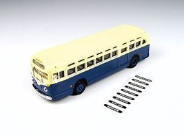 Classic-Metal-Works GMC TDH3610 Transit Bus Blue w/Cream Roof HO Scale Model Railroad Vehicle #32307