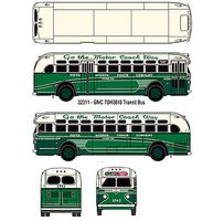 Classic-Metal-Works GMC TD 3610 Transit Bus - Assembled - Mini Metals(R) Fifth Ave. Coach Company (2-Tone Green, cream, Sign- 5th Ave/Riverside/Wash - HO-Scale