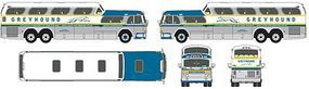 Classic-Metal-Works 1954 GMC PD4501 Scenicruiser Bus Assembled Greyhound HO Scale Model Railroad Vehicle #33106
