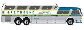 Classic-Metal-Works 1960 GMC PD4501 Scenicruiser Greyhound Bus New York, NY HO Scale Model Railroad Vehicle #33109