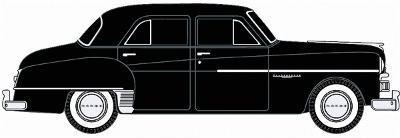 1950 dodge meadowbrook 4 door sedan 2 pack black n scale for 1950 dodge 2 door coupe