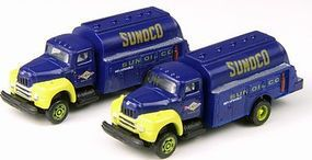 Classic-Metal-Works 1953 Intl Harvester R190 Tank Truck Sunoco Oil (2) N Scale Model Railroad Vehicle #50342