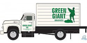 Classic-Metal-Works 54 Ford Box Truck Green Giant N Scale Model Railroad Vehicle #50359