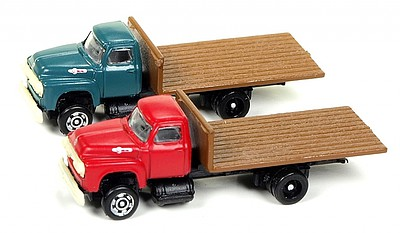 Classic Metal Works '54 Flatbed red/grn 2/
