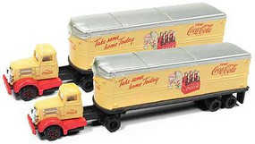Classic-Metal-Works N White WC22 Tractor/Trailer Set, Coca Cola (2)