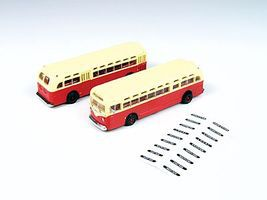 Classic-Metal-Works GMC TD 3610 Transit Bus - Red w/Cream Roof N Scale Model Railroad Vehicle #52306