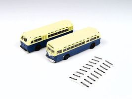 Classic-Metal-Works GMC TD 3610 Transit Bus - Blue w/Cream Roof N Scale Model Railroad Vehicle #52307