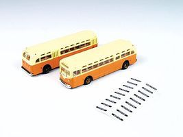 Classic-Metal-Works GMC TD 3610 Transit Bus - Orange w/Cream Roof N Scale Model Railroad Vehicle #52308