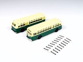 Classic-Metal-Works GMC TD 3610 Transit Bus - Green w/Cream Roof N Scale Model Railroad Vehicle #52309