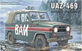 Military-Wheels-Mode UAZ469 Military Traffic Control Jeep Plastic Model Military Vehicle Kit 1/35 Scale #3503