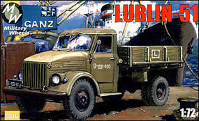 Military-Wheels-Mode Lublin 51 Polish Stake Body Truck Plastic Model Military Vehicle Kit 1/72 Scale #7216