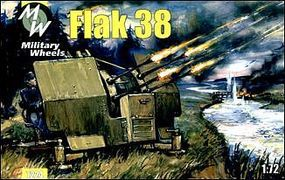 Military-Wheels-Mode 1/72 Flak 38 German Anti-Aircraft Gun