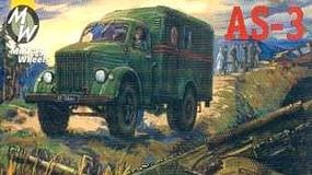 Military-Wheels-Mode AS3 Army Ambulance Truck Plastic Model Military Vehicle Kit 1/72 Scale #7228