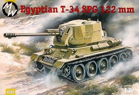 Military-Wheels-Mode T34 Egyptian Tank Plastic Model Military Vehicle Kit 1/72 Scale #7232