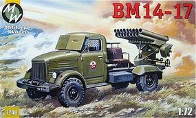 Military-Wheels-Mode BM14-17 Soviet Rocket System on GAZ-63A Plastic Model Military Vehicle Kit 1/72 Scale #7240