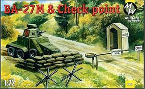 Military-Wheels-Mode Ba27M Truck & Check Point Plastic Model Military Vehicle Kit 1/72 Scale #7247