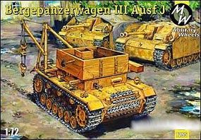 Military-Wheels-Mode Bergepanzerwagen III Ausf J Tank Plastic Model Military Vehicle Kit 1/72 Scale #7255