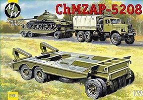 Military-Wheels-Mode ChMZAP 5208 Military Trailer Plastic Model Military Vehicle Kit 1/72 Scale #7260