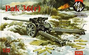 Military-Wheels-Mode PaK36(r) German Gun Plastic Model Military Vehicle Kit 1/72 Scale #7270