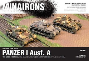 1/100 Spanish Civil War- Panzer I Ausf A Tank (5) (Plastic)