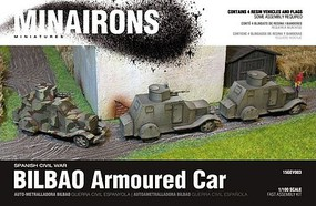 Minairons 1/100 Spanish Civil War- Bilbao Armored Car (4) (Resin)